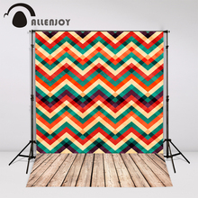 Allenjoy photography background colorful chevron wood props photocall photobooth studio fantasy custom