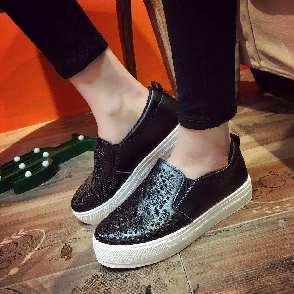 Women Loafers Shoes Brand Women Leather Casual Platform Flats Shoes For Women shoes 2017 Fashion Ladies Flats Shoes Women 2528<br><br>Aliexpress