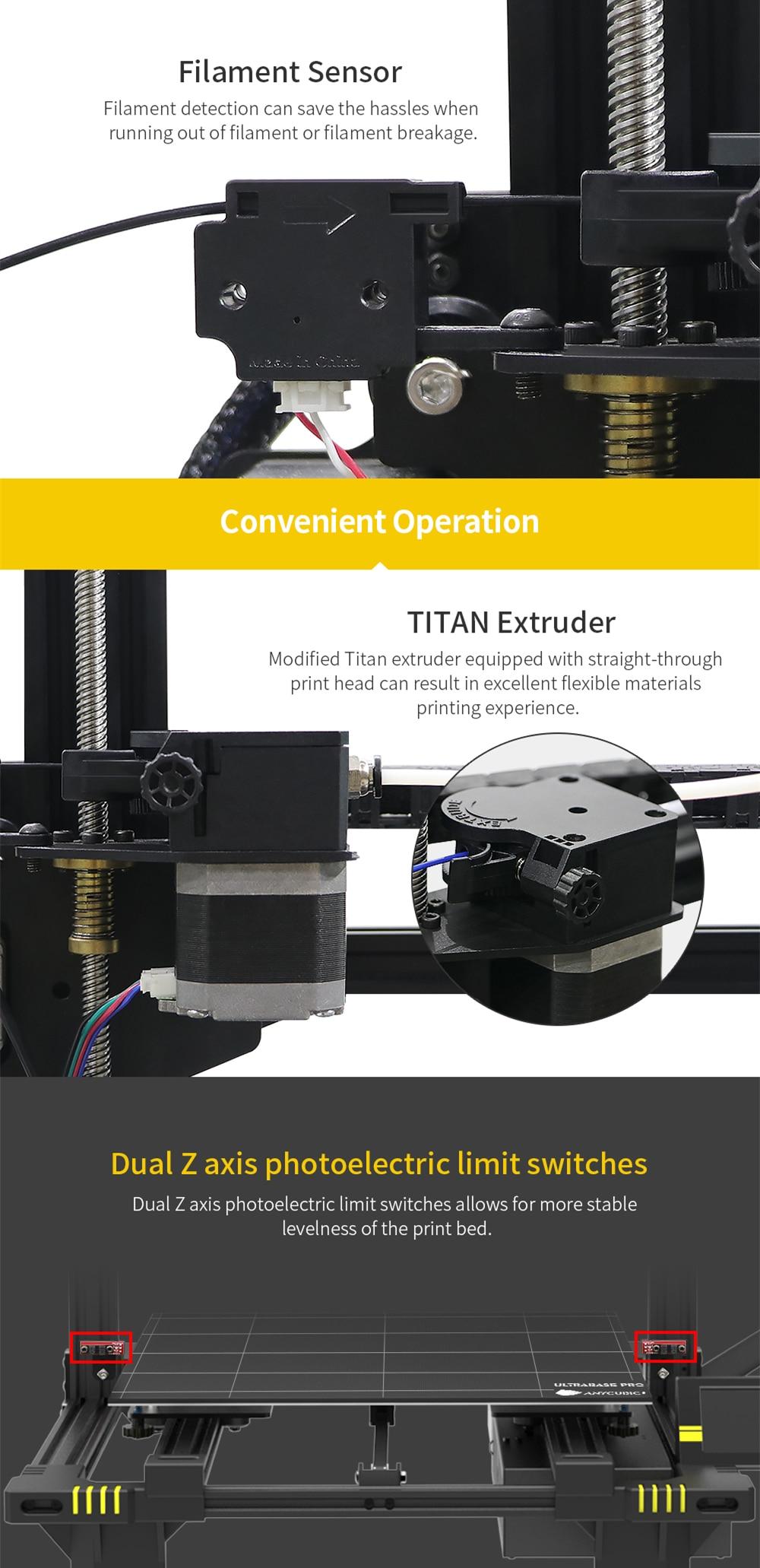 Büroelektronik Anycubic Chiron 3d Drucker Plus Größe Ultrabase Titan Extruder Tft Touchscreen Riesige Bauen Volumen 3d Drucker Kit Impresora 3d