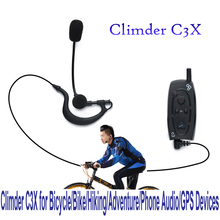 New Arrival 2pcs X Climder C3X Bluetooth Intercom for Bicycle/Bike/Hiking/Adventure/Phone Audio/GPS Devices