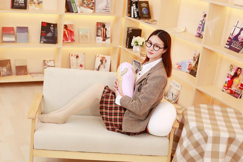 Miss Kobayashi's Dragon Maid Cosplay Kanna Kamui Plush Doll Toy Pillow Soft Cute Dragon Stuffed Cushion Gift Two-side 32x30cm (8)