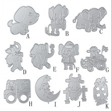 Animal Puppy dog/Elephant/Sheep DIY Scrapbooking Embossing Album Paper Card Craft cut mold Rabbit Metal Cutting Dies Stencils