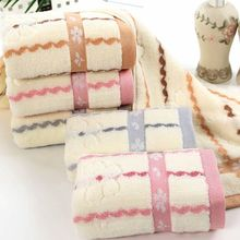 34x75cm High Quality Face Towel Bath Thick Absorbent Soft Cotton Hand Towel Travel Beach Towels Stripes Washcloth