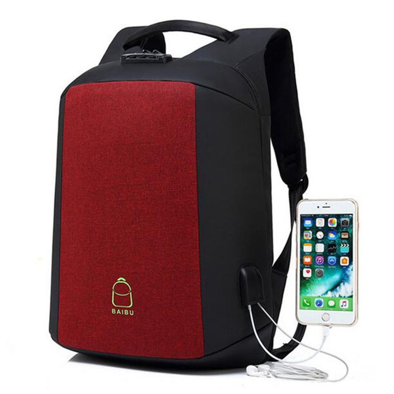 NEW Men Backpack Password Anti-theft Big Designer 15.6 Laptop Backpack USB Charging Student Travel School Bags For Teenagers<br>