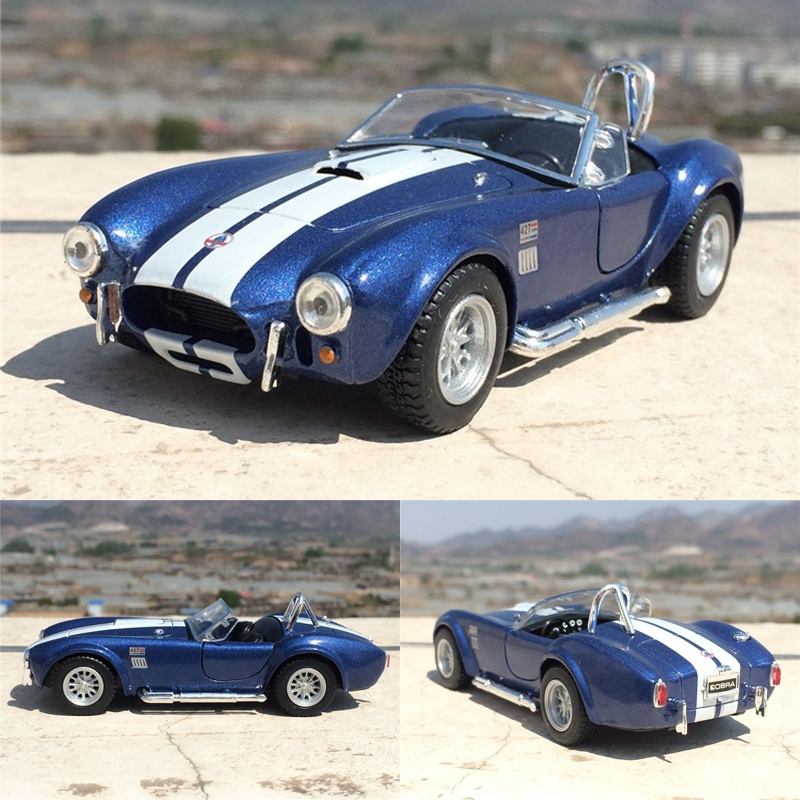Brand New KiNSMART 1/32 Scale USA Ford 1965 Shelby Cobra 427 S/C Supercar Diecast Metal Pull Back Car Model Toy For Gift/Kids(China (Mainland))