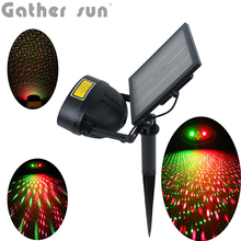 Solar Power Source Laser Light Outdoor 6 Program Model Light For Garden/House/Party Decoration Christmas L IP44 Waterproof(China)