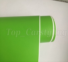 1.52x5m/roll Apple Green Matt PVC Vinyl Film DIY Wrap Sheet Matte Car Sticker Bubble Free(China)