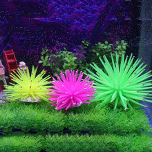 1 Pcs Silicone Aquarium Fish Tank Artificial Coral Plant Underwater Ornament Decor More Color(China)