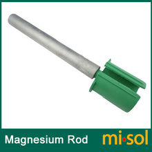 Magnesium anode for non pressurized Water tank, cleaning for solar water heater