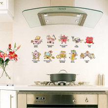 Wall Stickers Vinilos Paredes Maruoxuan Refrigerator Kitchen Cabinet Heart Stickers Color Paste Fashion Home Decoration Wall
