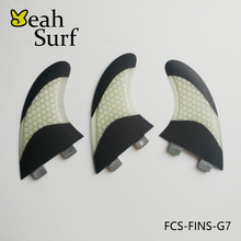 Surfing FCS Fins G7 Surfboard Fin Bicolor Honeycomb Fiberglass Fin Surf Board Fin G7 Carbon Quilhas Surf FCS Free Shipping(China)