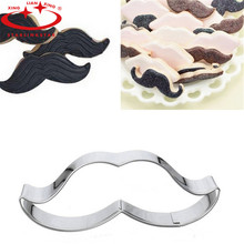 1 pcs  Moustache Lipstick Cupcake Lip Shape Metal Cookie Cutter Biscuit Cookie Mould Mousse Ring Mould