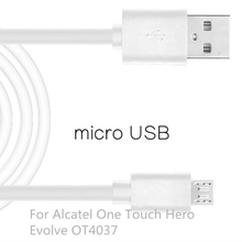 Mobile Phone Micro USB2.0 Cable For Alcatel One Touch Hero 1m USB Data Charger Cable Sync Andrews For Alcatel Evolve OT4037
