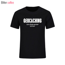Summer New Style Round Neck Pre-cotton geocaching not all who wander are lost Men's t-shirt Male T Shirts plus size(China)