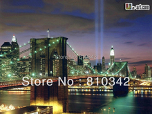 Canvas Prints new york city at night  oil painting Great buildings Brooklyn Bridge for office decor Dd-6-jz-(595)