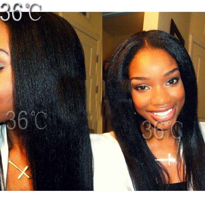 Italian Yaki Lace Wig Virgin Hair Kinky Straight Full Lace Wig Italian Yaki lace front  Wig Glueless Full Lace Human Hair Wig<br><br>Aliexpress