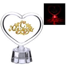 House ornaments!Shiny plastic ornament.Lighting crystal wedding gift craft.suspension heart Keepsake for anniversary celebration