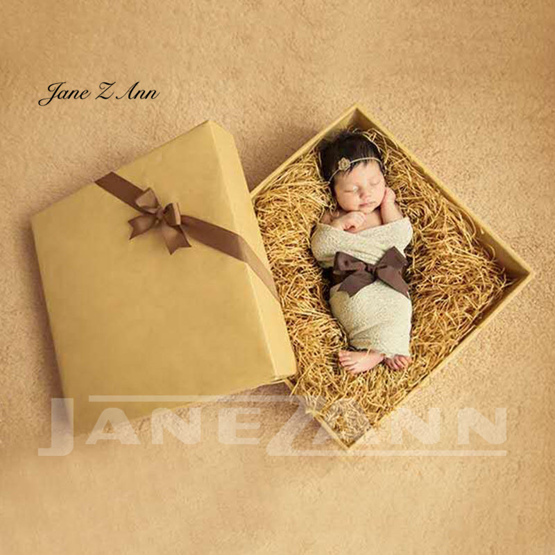 Jane Z Ann Newborn baby  photography props Christmas gift box+wraps  photo props studio photo shoot accessories 45x45cm