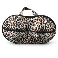 Hot Selling Lady Bra Storage Case Bras Protect Dots Leopard Print Portable Boxes Underwear Lingerie Travel Bags