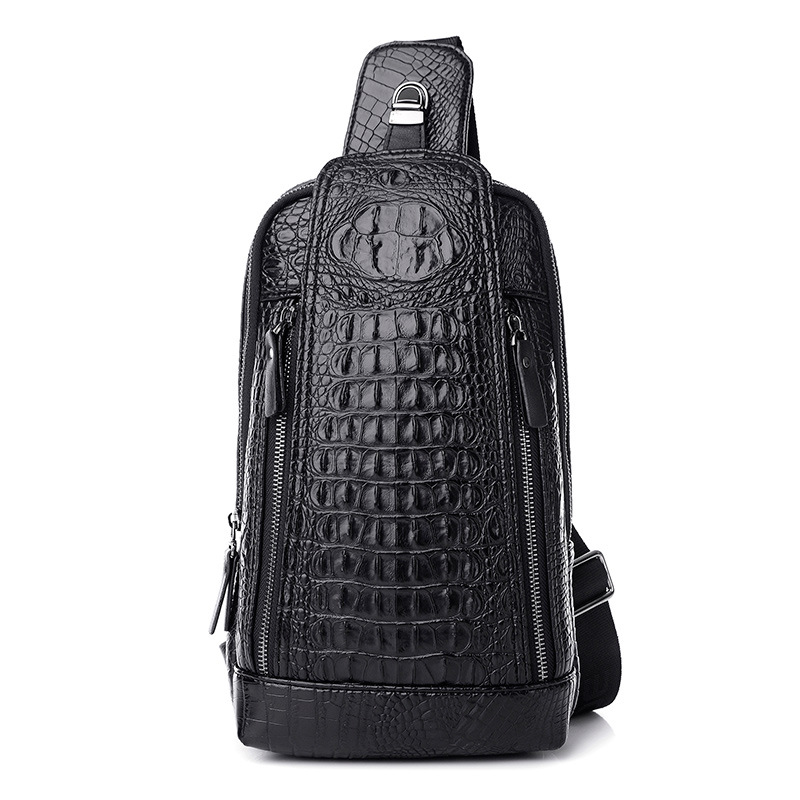 High quality crocodile pattern artificial leather bags for men shoulder bags male chest packs crossbody messenger bags handbag<br><br>Aliexpress