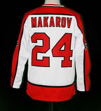 Custom SERGEI MAKAROV CCCP 24 RUSSIA Red Customized Any Number & Name Stitched Personalized Ice Hockey Jersey XXS-6XL Viva Villa