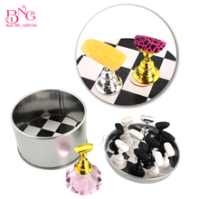 BNG 1set Nail Chess Board Magnetic Stand Crystal Practice Luxury Salon False Manicure Tool Nail Tips Display Holder(China)
