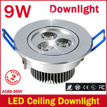 1pcs/lot 9W Ceiling downlight Epistar LED Spot ceiling lamp Recessed light 85V-245V for home illumination Brand Wholesale