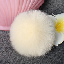 USPS Women Cute Lovely Rabbit hair ball DIY Faux Fox Fur Fluffy Pompom Ball for Fluffy Knitting Hat Hats Accessories Hiking Caps(China)