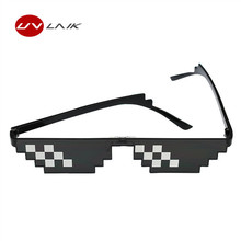 UVLAIK Deal With It Thug Life Glasses 8 bits Sunglasses Eyewear Women Men Dealwithit Popular Around the World(China)