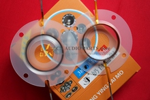 2 pcs ID: 38mm Flat aluminum wire milk white plastic diaphragm tweeters speaker voice coil