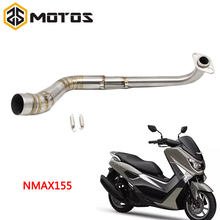Buy ZS MOTOS Stainless Steel Slip-On Motorcycle Exhaust Pipe Scooter Front Exhaust Full System Pipe Case YAMAHA NMAX 155 for $32.50 in AliExpress store