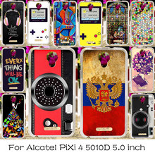 TAOYUNXI Silicone Phone Bag Case For Alcatel OneTouch Pixi 4 5.0 inch OT-5010 5010D Housing Cover 5010X 3G Version 5010S Cases