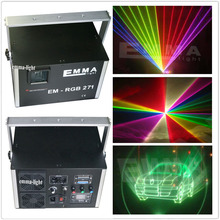 Wholesale 5000mw rgb RGB full color Laser light with small case projector Christmas laser light show 3d laser party light(China)