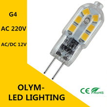 New High quality AC220V AC/DC12V DC12V G4 LED Replace Halogen 3W light bulb Corn SMD Super bright LED lamp light(China)