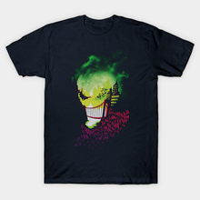 Suicide Squad T Shirt Joker Skull Bat HAHA Print Summer Style Funny Woman Tee Men Short Sleeve T-shirt Comic Book City of Smiles