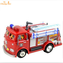 Free shipping FIREMAN SAM Toy Truck Fire Truck Car With Music+LED Boy Toy Educational Toy XFC-15(China)
