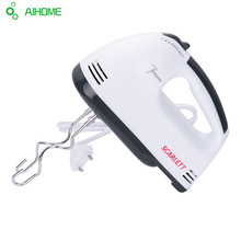 180W Egg Beater Electric Mixer Hand Mixer Stainless Steel  Egg Beater 7 Speeds Control With 2 Powder Bar  EU Plug