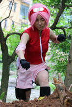 Free Shipping Naruto Sakura Haruno Dress Anime Cosplay Costume/Cosplay wig