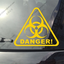 Biohazard Danger Warning Sign Car Truck Vinyl Decal Sticker Die cut no background pick color and size