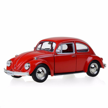 1:32 Scale Red Volkswagen Beetle 1967 Classic Vintage Car Models Gifts Toys For Boy Children Collections Displays Pull Back
