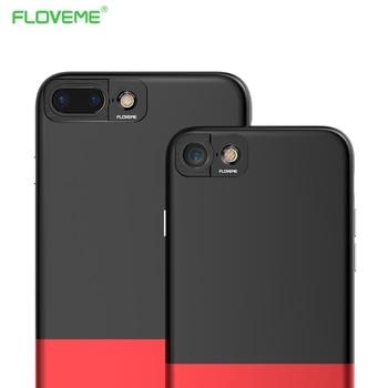 Floveme 360 grados cámara estuche protector para apple iphone 7 iphone7 más el aceite de goma suave textura cubierta del teléfono fundas coque