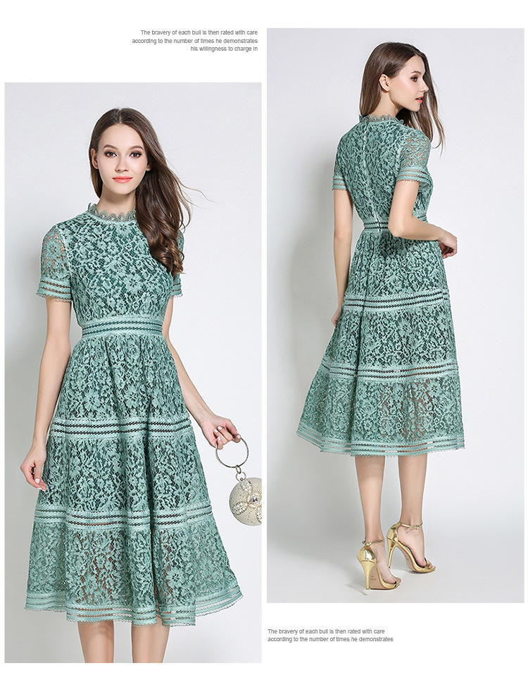 Hollow Out Casual Lace Dress (Us 0-10)