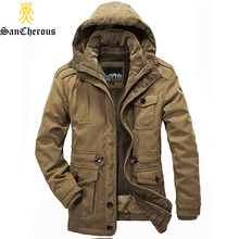 2017 New Arrival Top Quality Men Warm Parkas Heavy Wool Men Winter Jacket Men 2 in 1 Coat Size M-4XL(China)