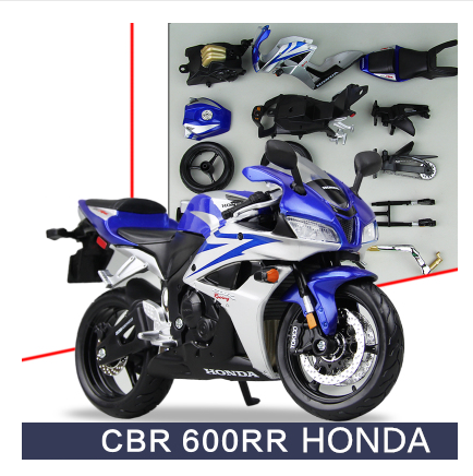 1pcs Motorbike Assembly HONDA CBR 600RR Motorcycle Road Racing DIY Toy Classical 1:12 Model Metal Boy Model Gift Maisto<br><br>Aliexpress