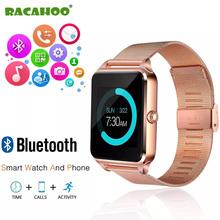 RACAHOO Smart watch Bluetooth Sleep monitoring Smartwatch For IOS Mobile phone touch screen SIM TF Waterproof camera pedometer(China)