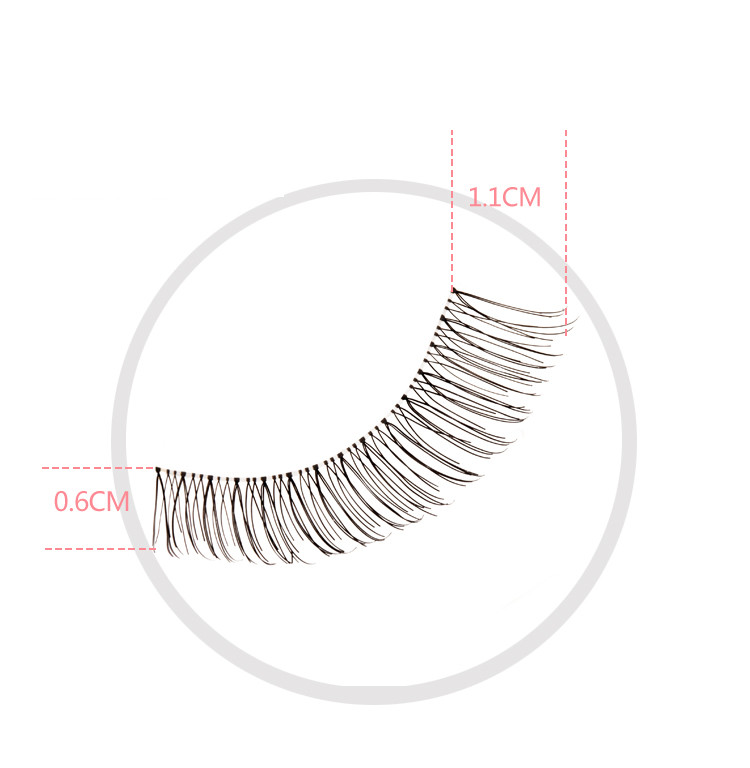 Latest comfortable 10 Pairs Lot Black Handmade Natural Cross Fake individual False Eyelash Soft Long Makeup Eye Lash Extension