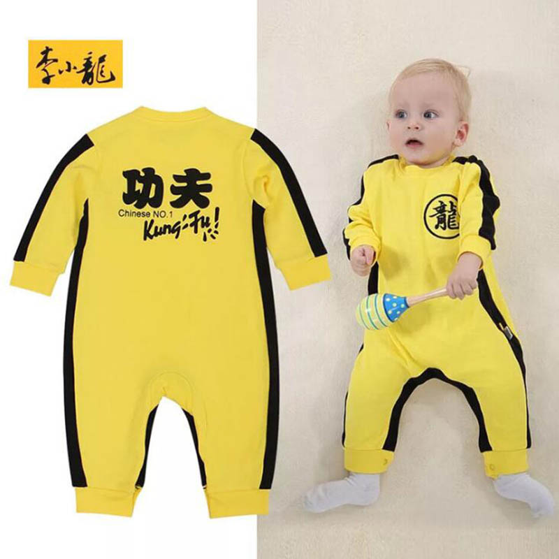 Baby Climbing Service Chinese Kung Fu Jeans Bruce Lee Leotard infant climbing service<br><br>Aliexpress