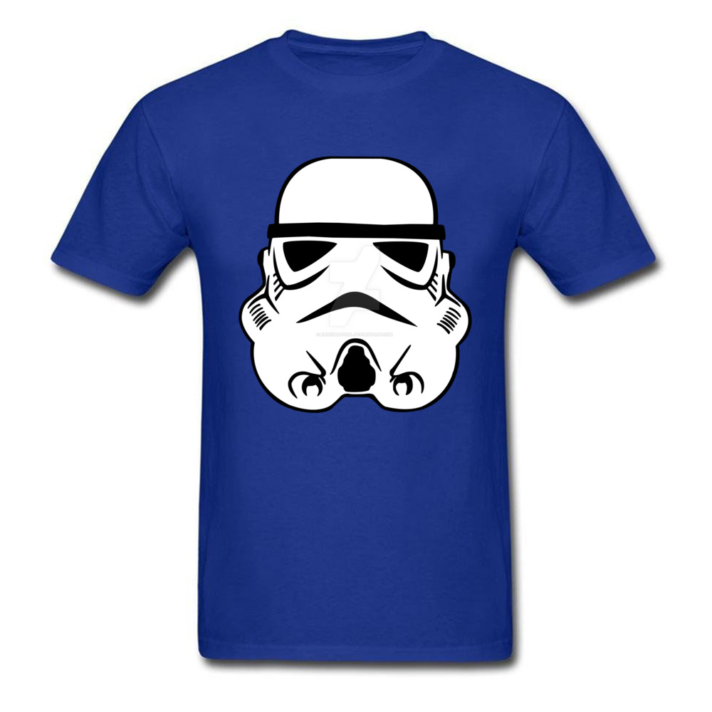 Newest Stormtrooper 10 Short Sleeve T-Shirt Summer/Autumn Round Neck Pure Cotton Tops & Tees for Men Tops Shirt Simple Style Stormtrooper 10 blue