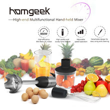 Homgeek 210-240V Handheld Food Mixer Multi-functional Stirrer 850W Blender Set Practical Mixer Mini Chopper for Home Kitchen(China)