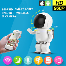 Maxde 960P HD  1.3MP Wireless Robot Camera Baby Monitor WIFI P/T Camera P2P Audio Surveillance Security Camera Remote  Control
